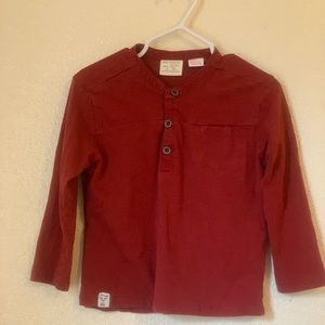 Red Zara baby boy top